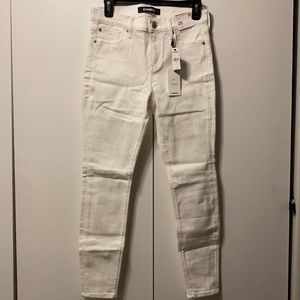 MID RISE WHITE JEAN LEGGINGS EXPRESS (size 2S)